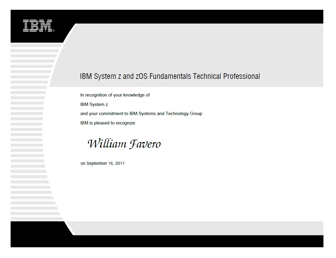 IBM z Systems zOS Fundamentals Technical Professional